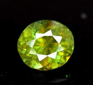 0.85 carats Oval Cut Full Fire Chrome Sphene Loose