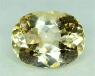 10.80 Carats Oval Cut Light Brown Color Natural topaz