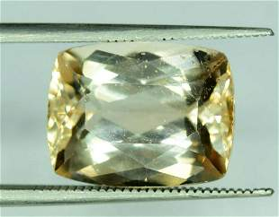10.85 Carats Radiant Cut Light Brown Color Natural