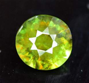 1.0 Carats Round Cut Full Fire Chrome Sphene Loose