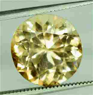 6.75 Carats Round Cut Champagne Color Natural topaz