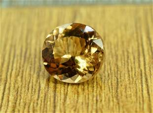6.65 Carats Round Cut Champagne Color topaz loose