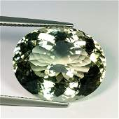 Natural Green Amethyst Oval Cut 20.67 ct