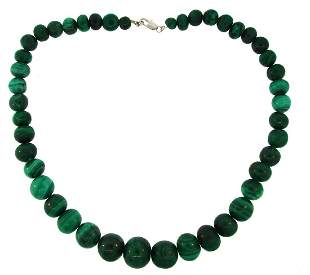 Malachite Bead Sttrand NECKLACE 20.5 Inches