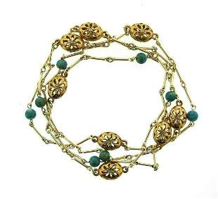 GORGEOUS 14k Yellow Gold, Silver & Arizona Turquoise