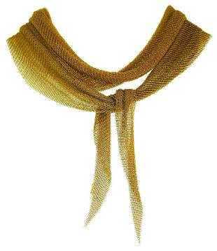 Tiffany & Co. Elsa Peretti Gold Mesh Scarf Necklace