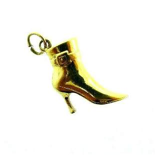 VINTAGE 14k Yellow Gold High Heel Boot Charm