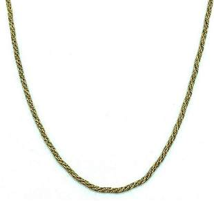1950's 10K Yellow Gold Twisted Woven Robe Link Chain