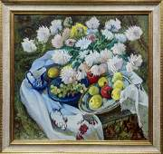 Oil painting Chrysanthemums Maksimenko Nikolay