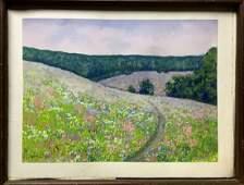 Watercolor painting Flower field Ivan Kirillovich