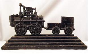 Cast Iron Train Doorstop