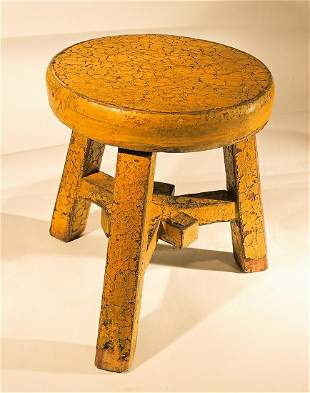 Funky Small Yellow Stool