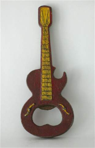 Cast Iron Guitar Bottle Opener