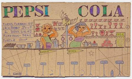Folk Art Diner on Cracker Box by Lewis Smith: Pepsi