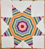 Well Quilted 30's Lone Star Quilt