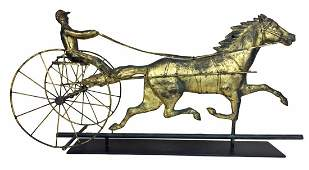 Trotter  Horse and Sulky Weathervane
