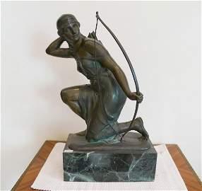 France bronze sculpture of the Amazon Rudolf Kaesbach