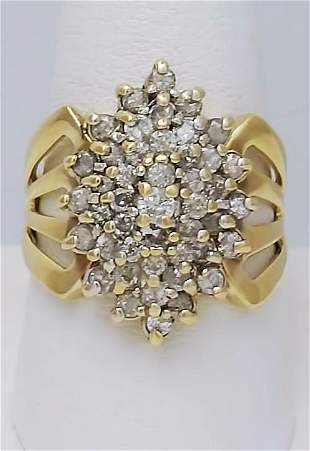2 CT. TW. COMPOSITE DIAMOND CLUSTER RING MARQUISE SHAPE
