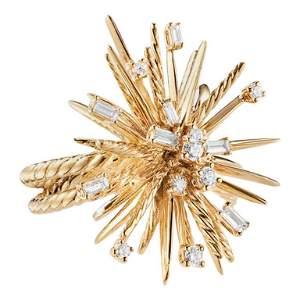 David Yurman Supernova Ring with Diamonds in 18 Karat