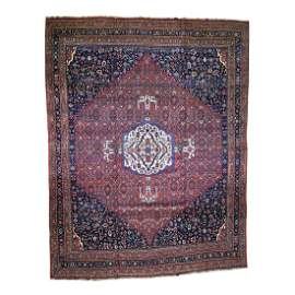 Antique Persian Bijar Pure Wool Exc Condition Oversize