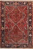 Geometric Red Heriz Serapi Persian Hand-Knotted Area