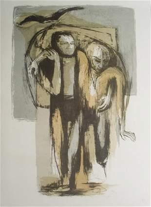 Benton Spruance - Ahab and Starbuck Portrait