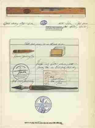 Saul Steinberg - DLM no. 205 Back Cover