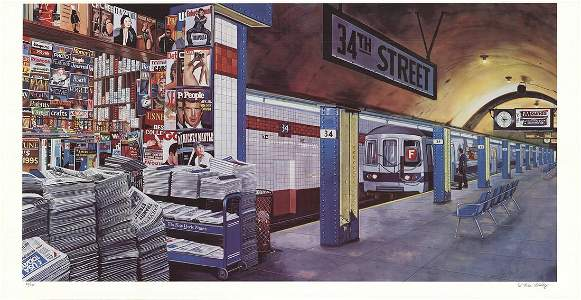 Ken Keeley - F train at 34th Street, New York