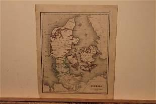 1859 Map of Denmark