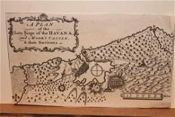 1762 Map of the Siege of Havana