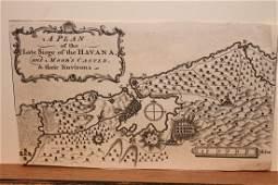 1762 Map of the Siege of Havana