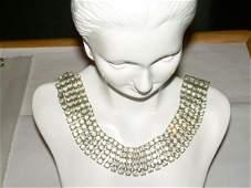 "Vintage 1960's Rhinestone Necklace, 16"" Includes 3"""