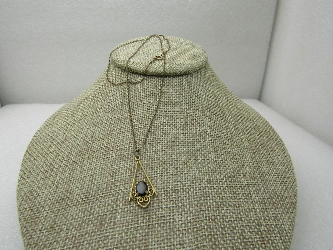 """Vintage 12kt G.F. Black Filigree Necklace, 19"""", 1960's"""