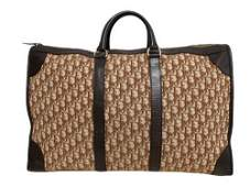 """Christian Dior"" Vintage travel bag in beige monogram"