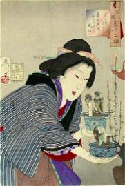 Tsukioka YOSHITOSHI: The Appearance of a Proprietress