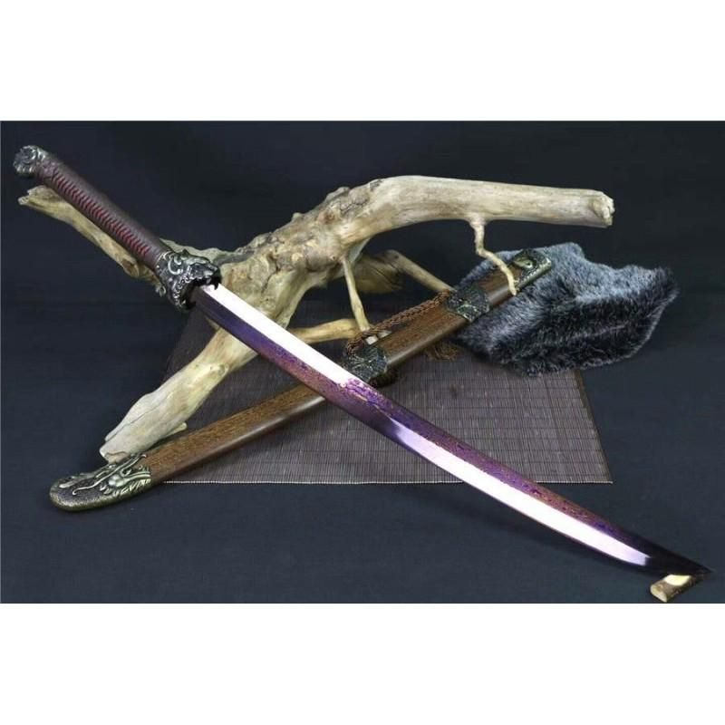Glaive everyday carry damascus steel sword alloy blade