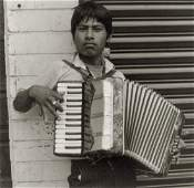 MANUEL ALVAREZ BRAVO - Accordionist, 1995