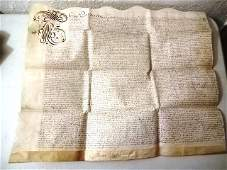 1665 Vellum Deed Property Great Fire of London
