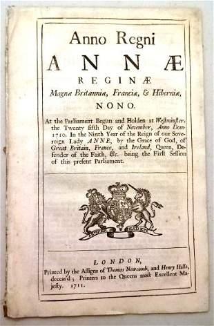 1711 English Act Bank of England
