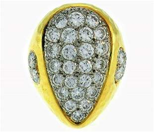 Van Cleef & Arpels Diamond Yellow Gold RING 1980s