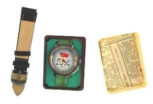 OLD SCHOOL Russian Boctok Soviet Union Watch w/Box &