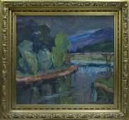 Oil painting Landscape Erdeli Adalbert Mikhailovich