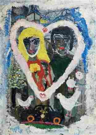 Oil painting Love Valentin Dmitrievich Khrushch