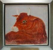 Oil painting Bull Yuri Anatolievich Pliss