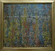 Abstract oil painting View Filatov Vladimir Nikolaevich