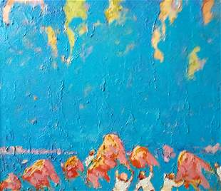 Abstract oil painting Sunny day Kalenyuk Alex