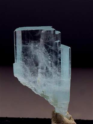 Aquamarine Var Beryl Crystal , Natural Aquamarine &
