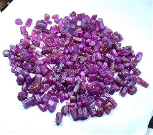 Beautiful Ruby Crystals , Natural Ruby Record Keepers