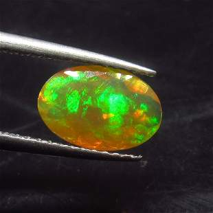 0.95 Ct Natural Ethiopian Multi-Color Fire Opal Oval