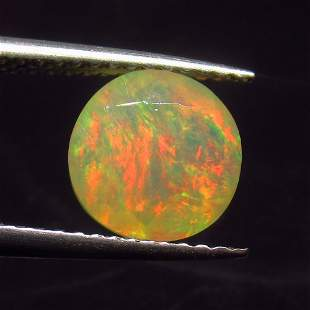 1.62 Ct Natural Ethiopian Multi-Color Fire Opal Round